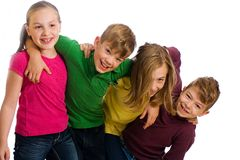 Grupo de miúdos que têm o divertimento Fotos de Stock