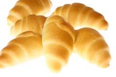 Grupo de mini croissants. imagem de stock royalty free
