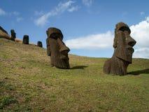 Grupo de Moai Imagen de archivo libre de regalías