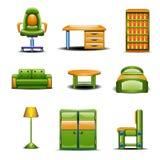 Grupo de mobília home diferente colorida Imagem de Stock
