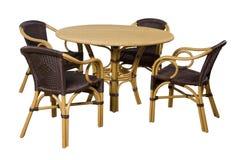 Grupo de mobília de um rattan imagem de stock royalty free