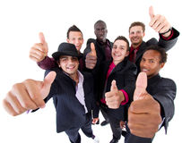 Grupo de moda de hombres de negocios acertados Fotografía de archivo libre de regalías