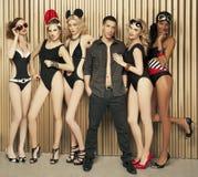 Grupo de modelos imagem de stock