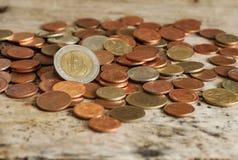 Grupo de moeda, moeda tailandesa Fotos de Stock Royalty Free