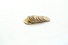 Grupo de moeda tailandesa do banho Imagem de Stock Royalty Free