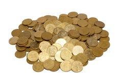 Grupo de moedas de ouro. imagens de stock royalty free