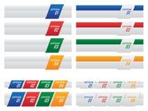 Grupo de molde colorido das etiquetas e das abas da opção Fotos de Stock Royalty Free