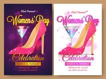 Grupo de molde, de bandeira ou de inseto para o dia das mulheres ilustração royalty free