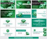 Grupo de molde do cartão Fotos de Stock Royalty Free