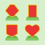 Grupo de molde dos ícones da concessão com espaço vazio ilustração royalty free