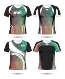 Grupo de molde poli e de polo do projeto da disposição do t-shirt do esporte do futebol imagem de stock