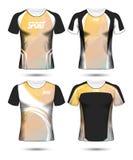 Grupo de molde poli e de polo do projeto da disposição do t-shirt do esporte do futebol imagens de stock