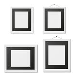 Grupo de molde preto e branco da moldura para retrato Imagens de Stock Royalty Free