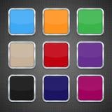 Grupo de moldes coloridos do ícone do App Foto de Stock