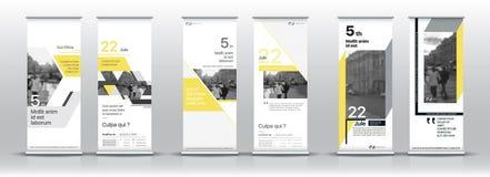 Grupo de moldes com um projeto de bandeiras verticais Imagens de Stock