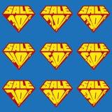 Grupo de moldes da bandeira dos por cento da venda Imagens de Stock Royalty Free