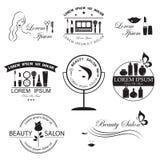 Grupo de moldes do logotipo da beleza ilustração do vetor