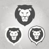 Grupo de moldes do logotipo do leão, para seu negócio Fotografia de Stock