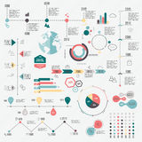 Grupo de moldes do projeto de Infographic do espaço temporal Imagens de Stock