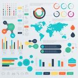 Grupo de moldes do projeto de Infographic do espaço temporal Fotografia de Stock