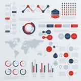 Grupo de moldes do projeto de Infographic do espaço temporal Foto de Stock