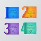 Grupo de moldes infographic Foto de Stock Royalty Free