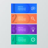 Grupo de moldes infographic Imagens de Stock Royalty Free