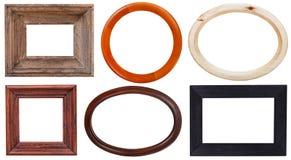 Grupo de moldura para retrato de madeira Imagem de Stock Royalty Free
