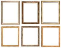 Grupo de molduras para retrato de madeira do vintage Imagem de Stock Royalty Free