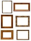Grupo de molduras para retrato decorativas escuras no backround branco Fotos de Stock Royalty Free