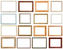 Grupo de molduras para retrato horizontais Fotografia de Stock Royalty Free