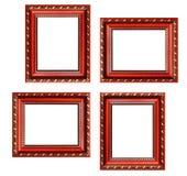 Grupo de molduras para retrato vazias com espaço livre para dentro, isolado sobre Fotos de Stock Royalty Free