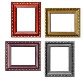 Grupo de molduras para retrato vazias com espaço livre para dentro, isolado sobre Imagem de Stock