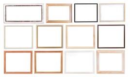 Grupo de molduras para retrato velhas Imagem de Stock