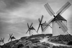 Grupo de molinoes de viento Imágenes de archivo libres de regalías