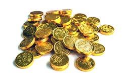 Grupo de monedas de oro stock de ilustración