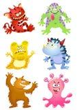 Grupo de monstro engraçados dos desenhos animados Fotos de Stock Royalty Free