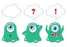 Grupo de monstro engraçados dos desenhos animados Imagem de Stock