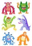 Grupo de monstro engraçados dos desenhos animados Foto de Stock Royalty Free