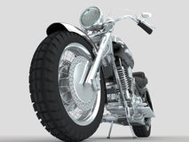 Grupo de motocicleta retro do microphonescustom no fundo claro Fotografia de Stock