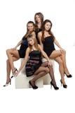 Grupo de muchacha atractiva imponente Fotografía de archivo