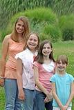 Grupo de muchachas Imágenes de archivo libres de regalías