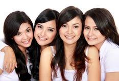 Grupo de muchachas sonrientes Imagen de archivo libre de regalías