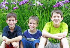 Grupo de muchachos Imagen de archivo