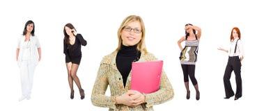 Grupo de mujeres de negocios vestidas ocasionales y formales Imagen de archivo