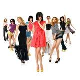 Grupo de mulher nova Imagem de Stock Royalty Free