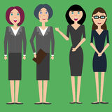 Grupo de mulheres de negócios diferentes ilustração royalty free