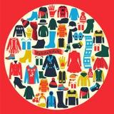 Grupo de mulheres e de roupa dos homens Foto de Stock