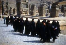 Grupo de mulheres iranianas vendadas Fotografia de Stock Royalty Free