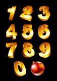 Grupo de números dourados Fotos de Stock Royalty Free